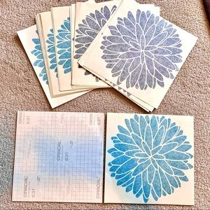 Other - Set of 22 large Vinyl Wall Decals - Dahlia